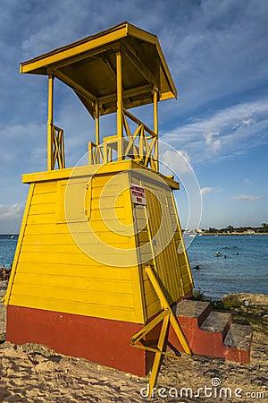 Free Life Guard Tower Barbados Stock Photos - 44706323
