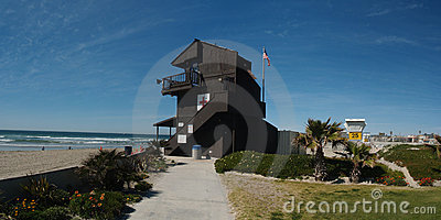 Life Guard tower on Mission Beach