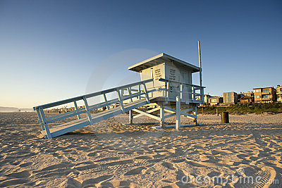 Life Guard Tower at Sunset