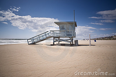 Life Guard Tower on Windy Afternoon