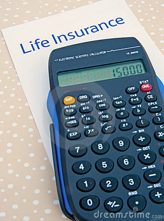 Free Life Insurance; Calculating The Annual Premium. Royalty Free Stock Photography - 17855057