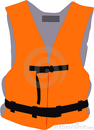 Life jacket - vector