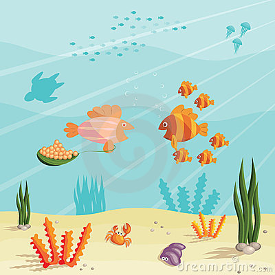 Free Life Of Small Fishes Royalty Free Stock Image - 24190276