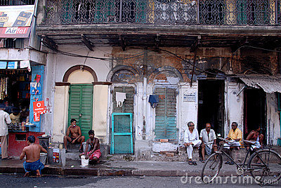 Daily-life of Old Kolkata Editorial Stock Image