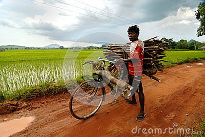 Daily Life of Orissa Editorial Photo