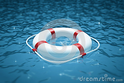 Life perserver in sea