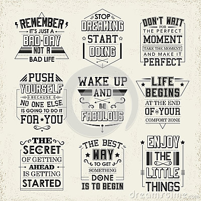 Free Life Quotes Set Stock Photography - 53814192