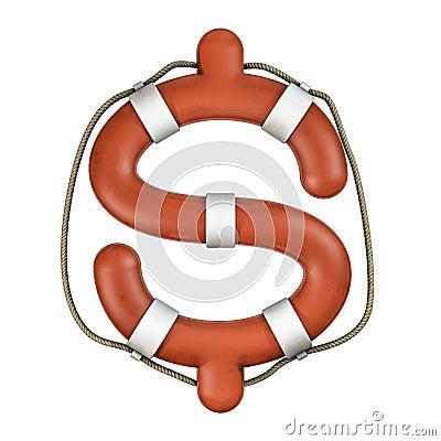 Life ring dollar