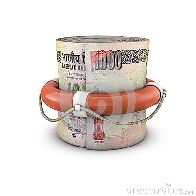 Life ring money roll rupees