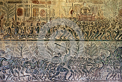 the reign of suryavarman ii lives Angkor wat is a temple complex at angkor, cambodia, built by king suryavarman ii in the early 12th century as his state temple and capital city as the best-preserved temple at the site, it is the.