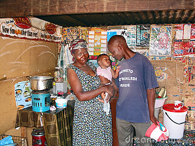 Life in township, Soweto Editorial Stock Image