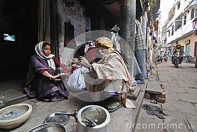 Daily Life of Varanasi People Editorial Photography