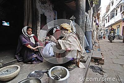 Daily Life of Varanasi People Editorial Photography