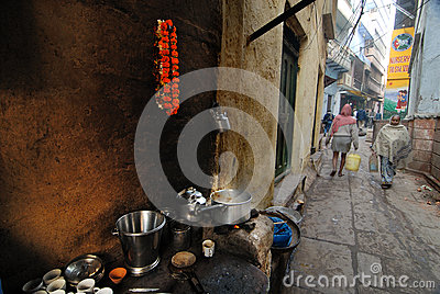 Daily Life of Varanasi People Editorial Stock Image