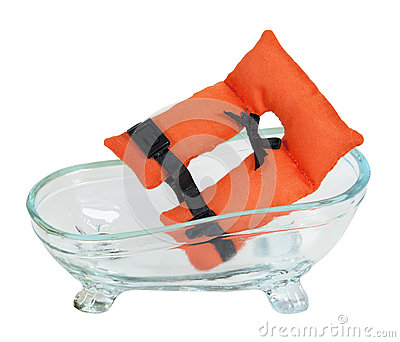 Life Vest and Bathtub