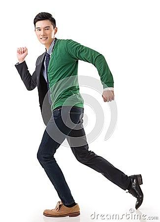 Membership asian guy running legal and