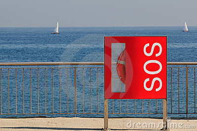 Lifebelt Sos sign