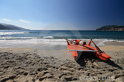 Lifeboat in the beach - Elba