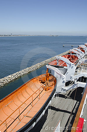 Lifeboats at Queen Mary