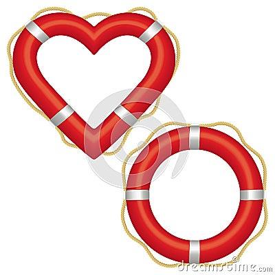 Free Lifebuoy Heart Royalty Free Stock Image - 21943486