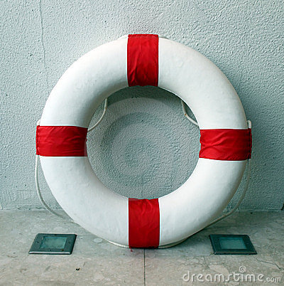 Lifebuoy inside the wall