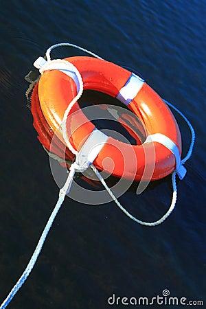 Free Lifebuoy Ring On Water Royalty Free Stock Photos - 47431478