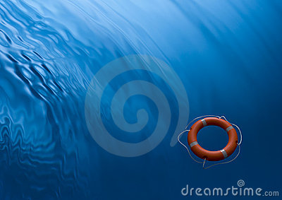 Lifebuoy Ring Preserver Water Background