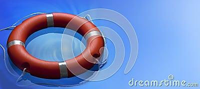 Lifebuoy Ring Water Background