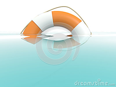 Lifebuoy in water