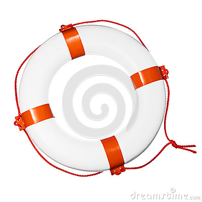 Lifebuoy on white