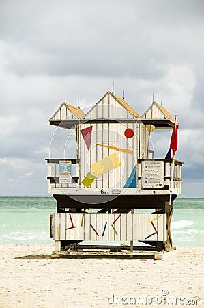 Lifeguard beach hut south beach miami