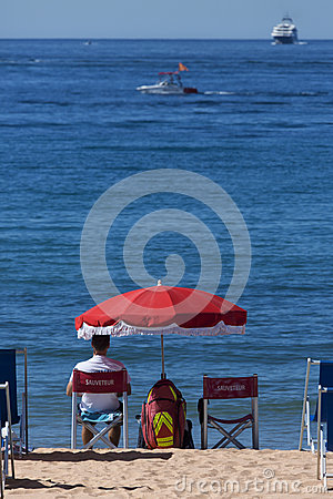 Lifeguard - Cannes - French Riviera Editorial Image