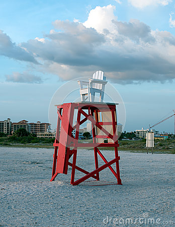 Free Lifeguard Chair Stock Photography - 55396722