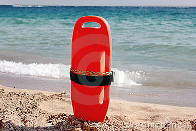 Lifeguard equipment on beach
