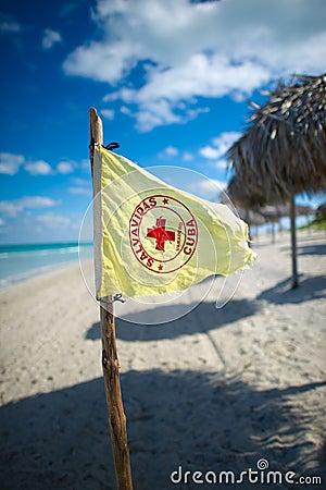 Lifeguard flag,cuba