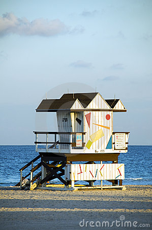 Lifeguard hut south beach miami florida