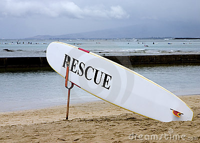 Lifeguard rescue board