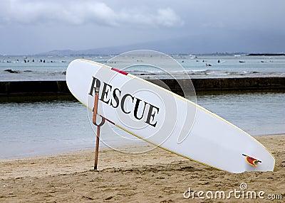 Lifeguard rescue board