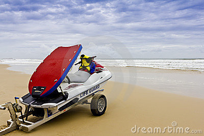 Lifeguard Rescue Boat - Stormy Seas