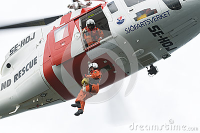 Search and rescue SAR helicopter Editorial Photography