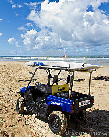 Lifeguard rescue vehicle