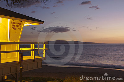 Lifeguard shack in Maui