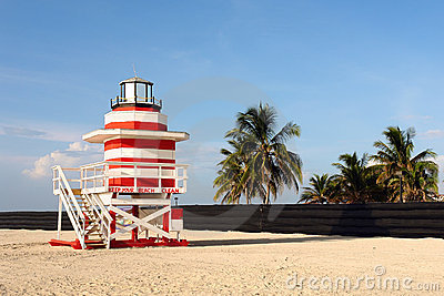 Lifeguard Stand In South Beach Miami