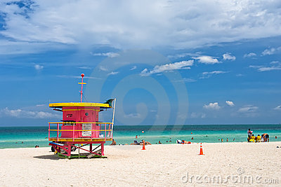 Lifeguard stand, South Beach, Miami