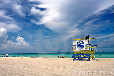 Lifeguard Stand, South Beach Miami, Florida