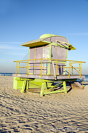 lifeguard station South Beach Miami Florida
