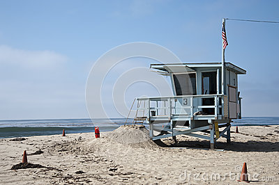 Lifeguard Station in Venice Beach California