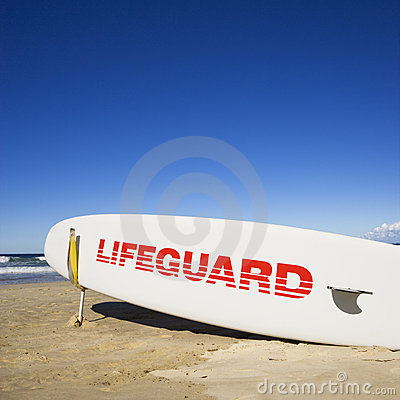 Free Lifeguard Surfboard. Stock Images - 4485164