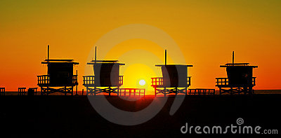 Lifeguard Towers In Venice Beach, United States Stock Photo - Image: 21792260