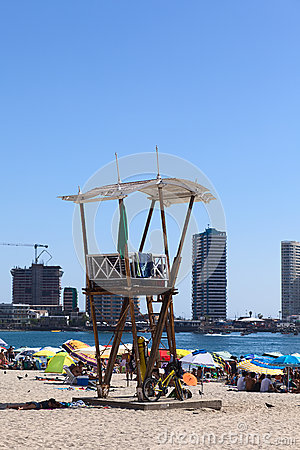 Free Lifeguard Watchtower On Cavancha Beach In Iquique, Chile Royalty Free Stock Image - 50269416